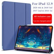 Para ipad pro 12.9 caso 2020 novo 4th caso com face id funda para ipad pro 12.9 2018 2017 2015 caso 3rd 2nd 1st geração capa