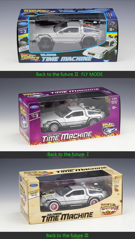 DMC-12 Delorean Back To The Future Time Machine Model Car 20