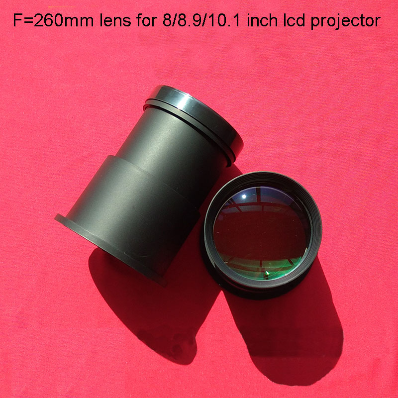 DIY 1080p Lcd HD Projector Lens Projector Kit F260mm Glass Lens For HD Projection LCD 8/8.9/10.1 Inch