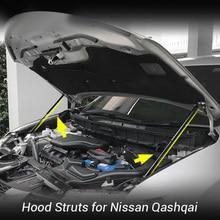 Bonnet Hood Strut Bars Support Buffer Lifting Hydraulic Rod No Driling/Welding for Nissan Qashqai J11 Rogue Sport 2013-2019