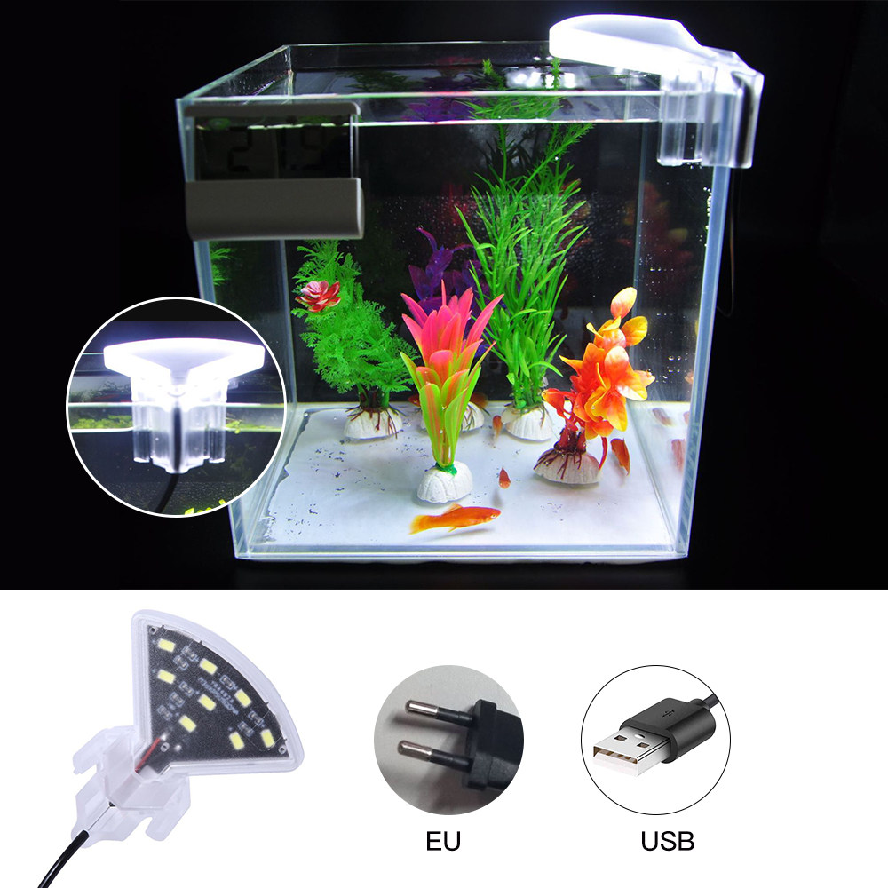 Mini Waterproof Aquatic Plants Grow Lamp 5W Clip LED Aquarium Light Submersible Fish Tank Led Bar Lights Tool Clip-on Underwater
