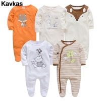 Kavkas 2019 spot 0 12m high quality baby clothing climbing suit boy cute printing handsome clothes suit