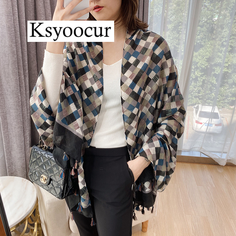 Size 180*90CM, 2020 New Style Cotton Linen Hot Selling Four Seasons Fashion Scarf Shawls And Scarves Women BRAND Ksyoocur E29