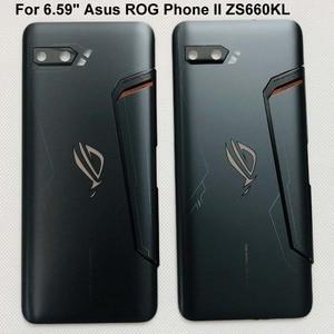 """Image 2 - Capa de vidro para celular asus, nova, 6.59 """", rog phone ii, zs660kl, 3d, carcaça traseira, bateria, lente de vidro «i001da i001de"""