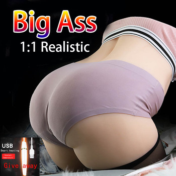 Adult 3D Realistic Big Ass Artificial pussy real vagina Pussy masturbator for man Anal Sex Penis Massager Sex Dolls male sex toy top quality silicone sex doll japanse sexy torso love dolls big ass realistic vagina real pussy anal mannequin adult products