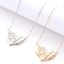 Personalized Necklace Fashion Gold Silver Geometric Glamour Elegant Necklace Jewelry Simple Sweet Romantic Valentine's Day Gift sweet romantic that s ok major suit moon stars pendeloque cut necklace 114swr xiangl silver 925 jewelry christmas gift boho