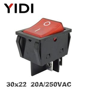 Image 3 - KCD4 201 30x22 30A 250VAC 헤비 듀티 KCD4 로커 스위치 20A 250VAC DPST ON OFF 래칭 12V 220V 적색 녹색 청색 LED 조명
