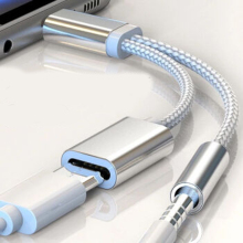 2 в 1 usb type C зарядный кабель type-C конвертер 3,5 мм аудио для Xiaomi наушники адаптер для huawei P20 Pro Lite