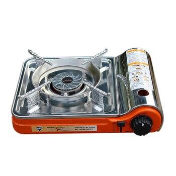 Di động Mini Di Động Bếp Gas BBQ Ngoài Trời Nướng Bếp Cắm Trại Đôi
