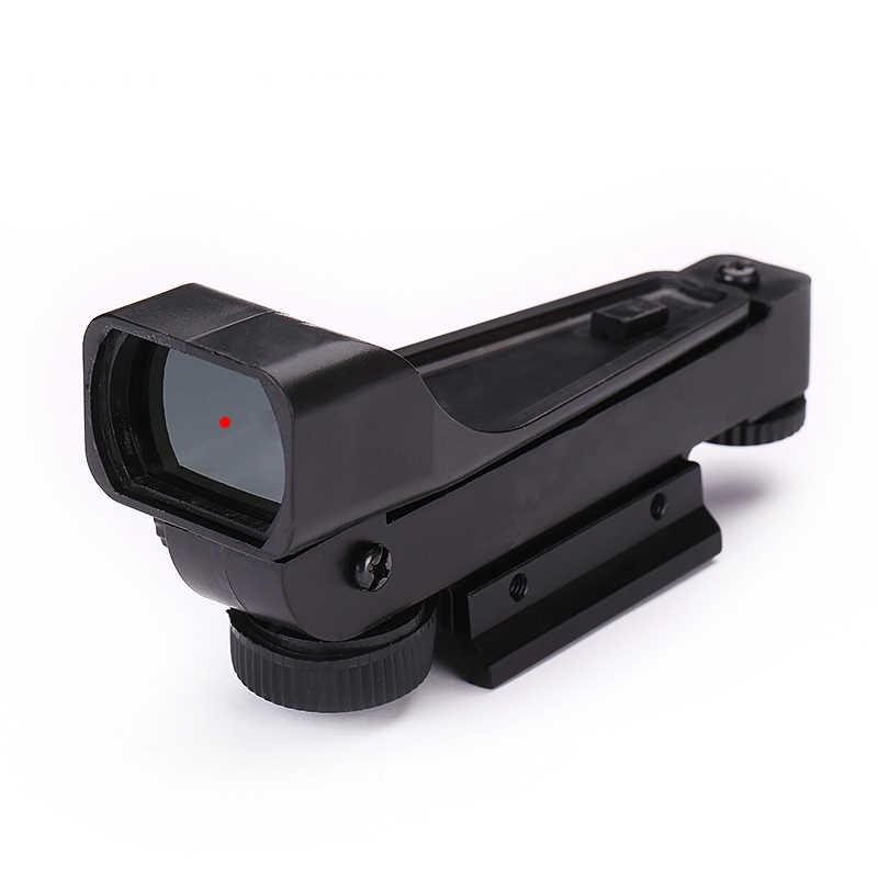 Mira telescópica táctica de punto rojo para caza y tiro al aire libre, mira telescópica de 11mm, ranura para tarjeta de uso primario