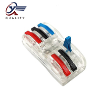 30/50/100PCS PCT-222 Electrical Wiring Terminal Household Wire Connectors Fast Terminals For Connection Of Wires Lamps SPL-3CT wago type 10pcs electrical wiring terminals household wire connectors fast terminals for connection of wires lamps and lanterns