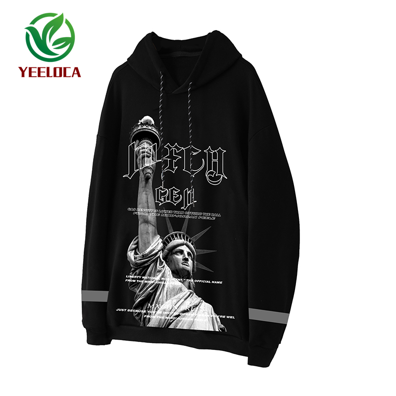 Image 5 - 2019 Dropshipping British Style 3M Reflective Hoodie Men Hip Hop 
