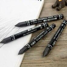 Crayons hexagonaux pour Graphite, 4B/HB/2B/6B, élément plein plomb, pour dessin, tige en carbone, croquis, crayon à charbon