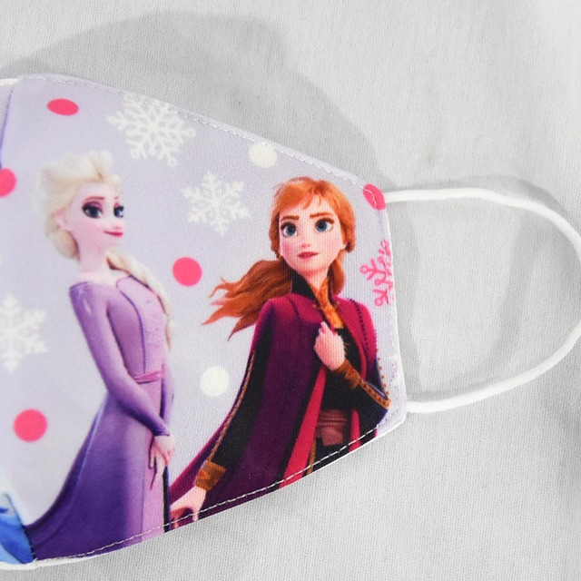 Cartoon Face Dustproof Breathable Mask for Kids Girl Adult Snow Queen Mouth Masks Festive Party Girls Sunscreen Anna Elsa Mask 5