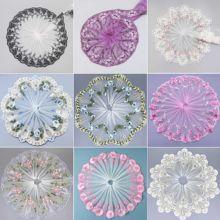1 Yard 3D Fleur Dentelle Tissu Brodé Dentelle Ruban D'habillage Bricolage MARIAGE Vêtement Couture Artisanat Accessoires