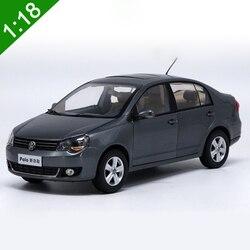 1:18 alta meticulosa VW POLOSedan aleación modelo coche Static Metal modelo vehículos con caja Original para regalo de colección