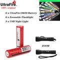 UltraFire 18650 батарея 2/4/6 шт Макс 3 7 В 2600 mAh18650 перезаряжаемая литиевая батарея для фонарика электронные игрушки