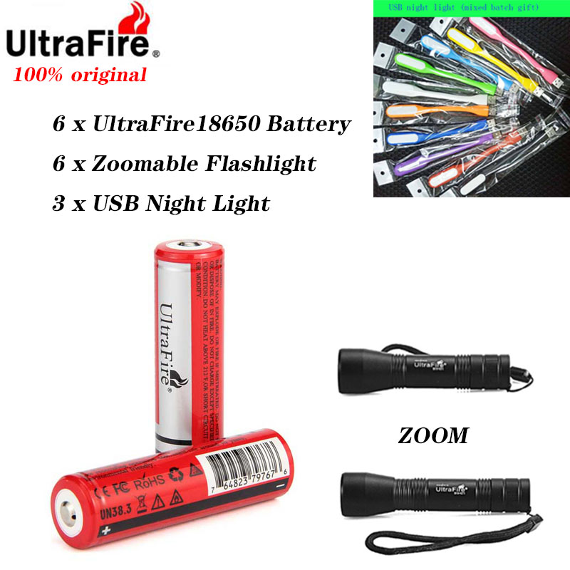 UltraFire 18650 Battery 2/4/6PCS MAX 3.7V 2600 MAh18650 Rechargeable Lithium Battery For Torch Flashlight Electronic Toys
