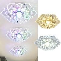 Kreative Moderne 9w Led Kristall Decke Kronleuchter Anhänger Blume Form Lampe Für Innen Flur Wohnzimmer Licht Decor Licht