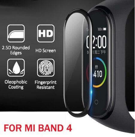 3D защита с изогнутыми краями для xiaomi mi band 4 стекло устойчивая к царапинам пленка miband 4/5 полное покрытие HD mi band 4 Защита экрана