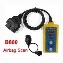 B800 escáner SRS y reseteador de herramienta para BM ajuste E36 E46 E34 E38 E39 Z3 Z4 X5 B800 Airbag SRS restablecer escáner de diagnóstico OBD herramienta B800