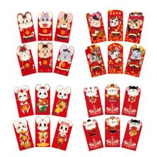 6pcs/set Chinese New Year Red Money Envelope Year of the Rat Packet Bag Spring X4YD 3 6pcs 2020 new year cartoon mouse rat chinese red envelopes packets pocket bag