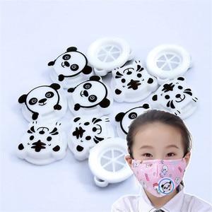 100 sztuk/paczka dzieci panda tiger zawory oddechowe plastikowe silikonowe jednokierunkowe zawory wydechowe zawory oddechowe maska pokrywa