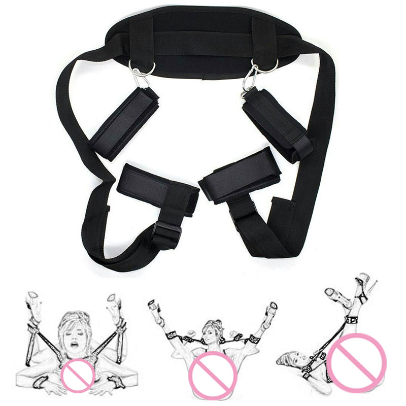 BDSM Bondage Restraints Slave Neck Handcuffs Leg Open Cuff Straps Erotic Sex Toys For Woman Couples Accessories Adult Games