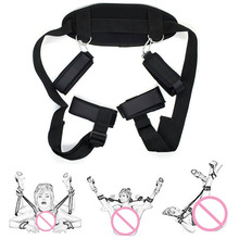 BDSM Bondage Restraints Slave Neck Handcuffs Leg Open Cuff Straps Erotic Sex Toy