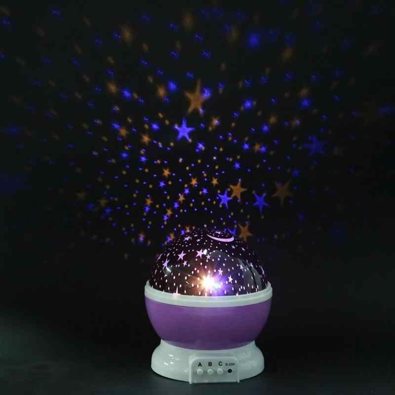Rotierenden Projektor Starry Nacht Lampe Sky Sterne Kinder Kinder Baby Schlaf Romantische LED USB Projektion Lichter Weihnachten Urlaub Geschenk