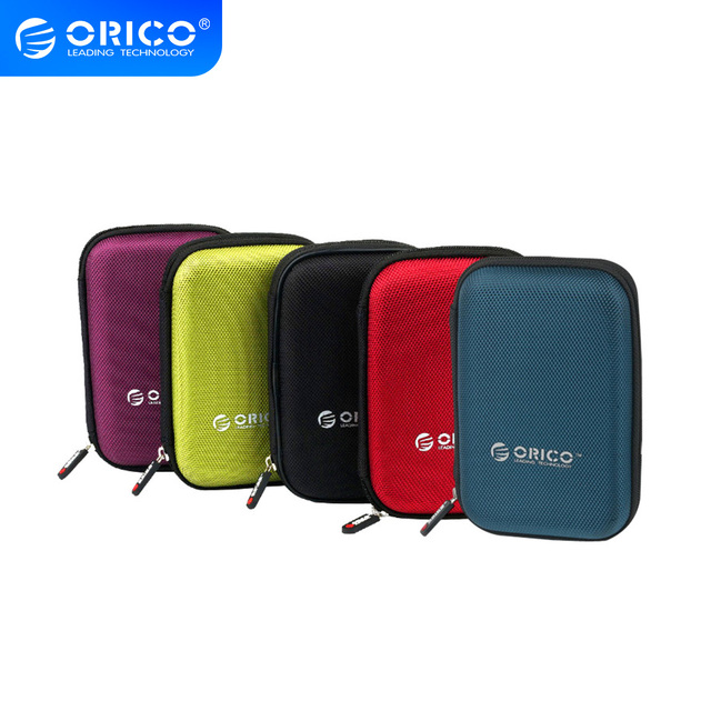 ORICO 2 5 zoll Tragbare Externe Festplatte Schutz Tasche Dual Puffer Schicht HDD Protector Fall PHD cheap CN (Herkunft) Neoprene ORICO PHD-25 2 5 HDD Protection Bag Interlayer design Black Black Blue Red Purple 160*110*38mm 2 5 inch HDD Storage Case