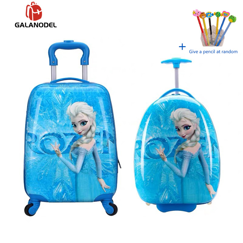 New Cartoon Children Rolling Luggage Wheeled Bag 16