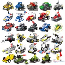 Mini small particle assembly building block military vehicle engineering toy