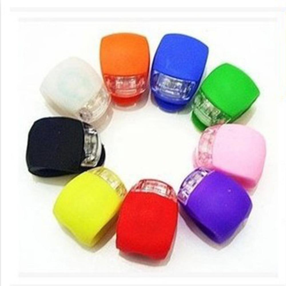 Silicone LED Cycling Lamp Waterproof Bike Front Light Bicycle Headlight Bycicle Handlebar Lamp Drop Shipping