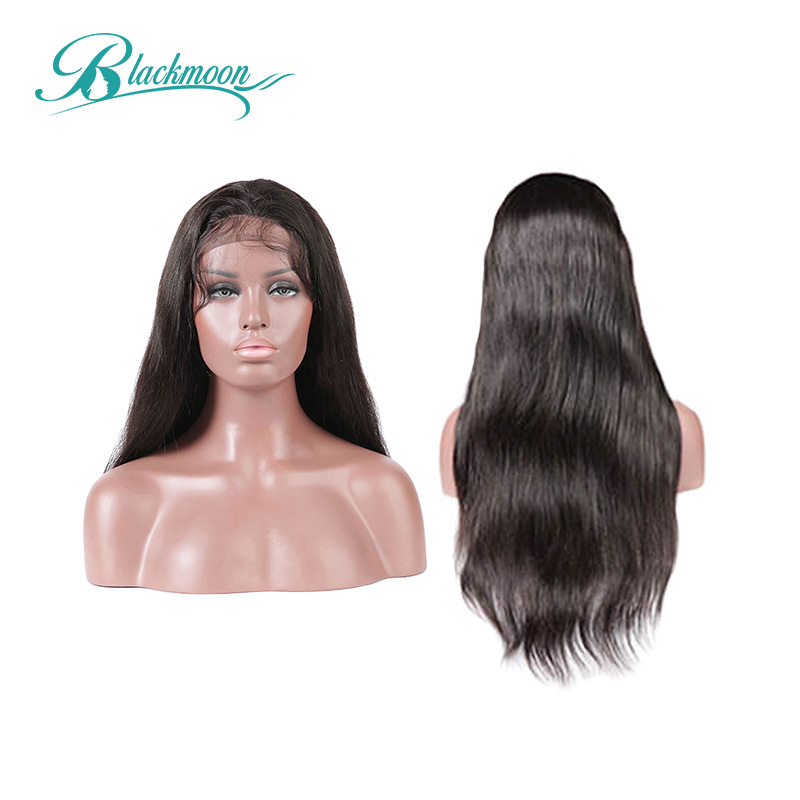 Brazilian Wig 13*4 Straight Lace Front Human Hair Wigs 150% Density 8-24 Inch Remy Hair Wigs Natural Color Blackmoon Hair
