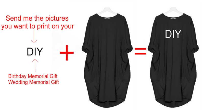 2020 vestido feminino bonito impressão cliente-feito diy aniversário comemorativo presente personalizado impresso vestido plus size 5xl casual solto