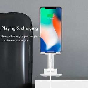 Image 3 - יוניברסל Tablet טלפון מחזיק שולחן עבור iPhone שולחן העבודה Tablet Stand עבור טלפון סלולרי שולחן מחזיק טלפון נייד פולד סטנד הר