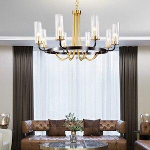 Image 2 - Postmodern luxury LED Iron art chandelier Nordic glass living room lighting bedroom fixture dining room villa hanging lights