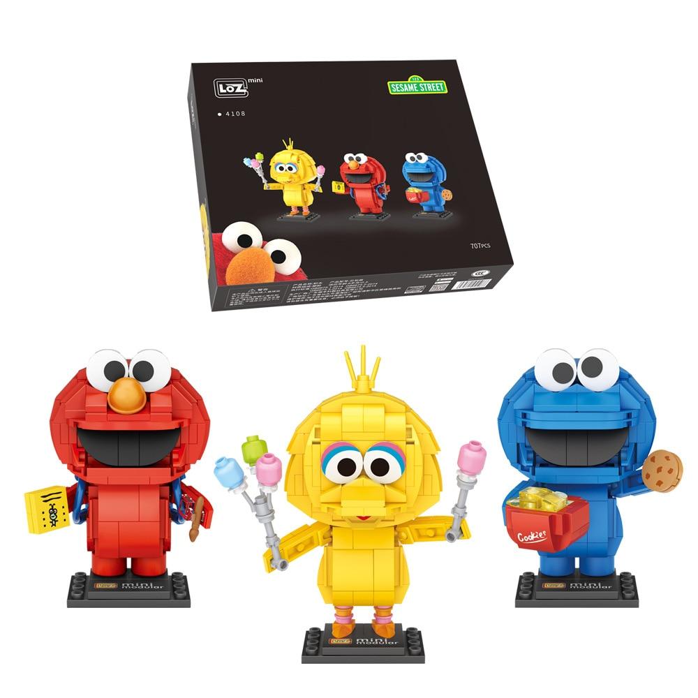 3in1 LOZ Blocks DIY Building Bricks Cute Bird Cartoon Model Toys for Children Juguetes Anime Kids Gifts Girls Present 4108