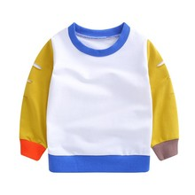 Autumn Kids Baby Boy Patchwork Design Sweatshirts Casual Tod