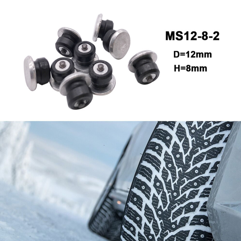100pcs 8mm  Spikes For Tires  Winter Wheel Lugs Tire Spikes Tire Skid Tool Snow Chains Spikes Winter Wheel Lugs For Car SUV ATV