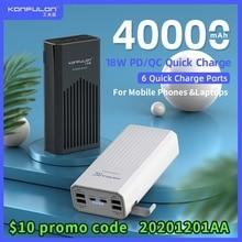 Power Bank 40000mah QC 3,0 PD 18W Zwei Weg Quick Charge Bank Power12V Power Für Laptop/notebook Power Bank Für IPhone 12