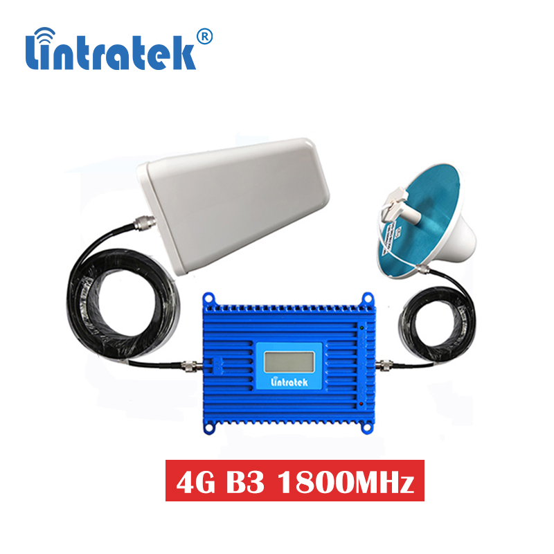 Lintratek 70dB 1800MHz GSM 4G LTE DCS Mobile Signal Booster 4G B3 1800 Cellular Repeater Amplifier Booster Set With Antenna S6