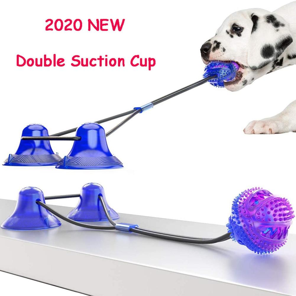 Hond Molaire Beet Speelgoed Multifunctionele Pet Chew Speelgoed Verbeterde Dubbele Zuignap Hond Pull Bal Voor Honden Schoonmaken Tand Voedsel dispenser|Honden Speelgoed| - AliExpress