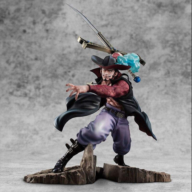 34 см новый аниме один кусок Dracule Mihawk фигурка боевой ver. ПВХ Фигурки Коллекционная модель игрушки подарок для детей