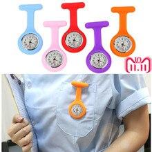Горячая Распродажа модные карманные часы Силиконовые часы для Медсестры Брошь Туника Брелок часы с бесплатной батареей доктор медицинский reloj de bolsillo 1