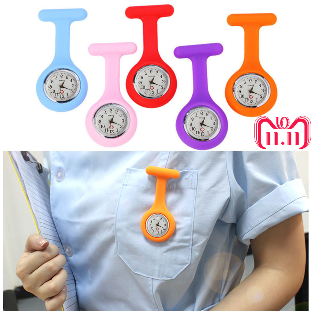 Hot Sell Fashion Pocket Watches Silicone Nurse Watch Brooch Tunic Fob Watch With Free Battery Doctor Medical reloj de bolsillo 1