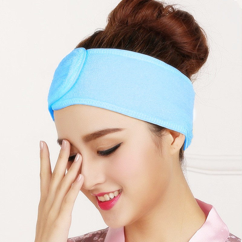 2019 New Pink Spa Bath Shower Make Up Wash Face Cosmetic Headband Hair Band Accessories Sale