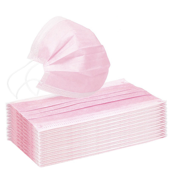 Pink Disposable Non-woven  Face Mask  BreathableMask with Elastic Earband Breathable Mask