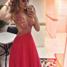 New Style Long Prom Dresses 2020 Spring Sleeveless Floor Len